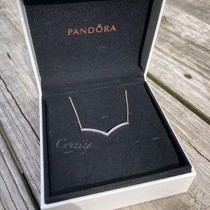 New Pandora Shimmering Wish Necklace